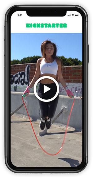 Kickstarter Page Design Example on iPhone