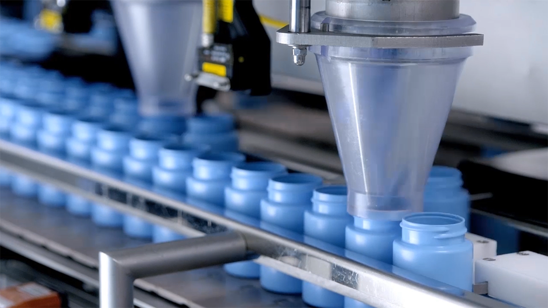video still of medical manufacturing process