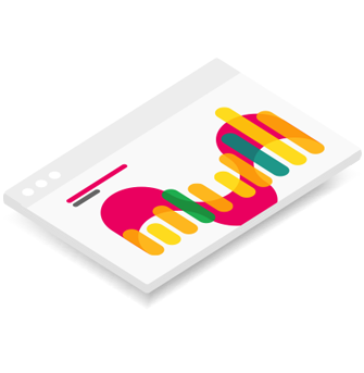 An Icon depicting a page designed for Indiegogo or Kickstarter